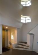 Tower interior stairs