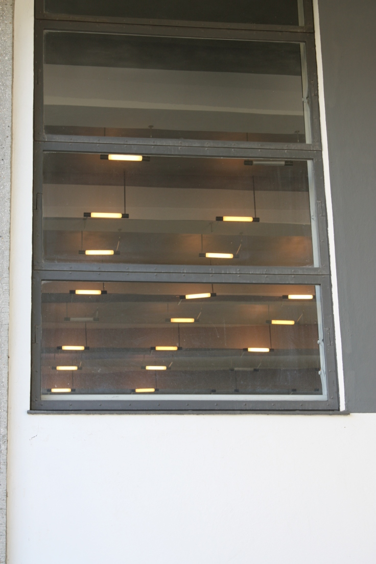 Bauhaus Dessau Breuer Lights through window