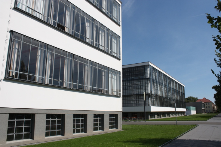 Bauhaus Dessau from Gropius Allee