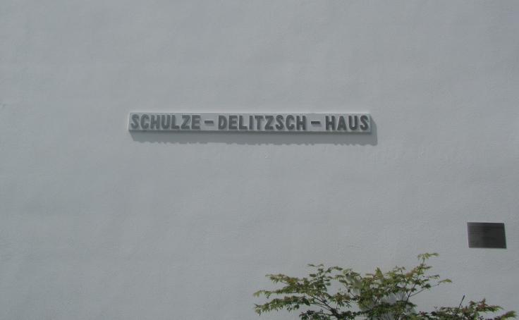 Schulze-Delitzsch Haus signage
