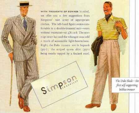 Simpsons DAKS slacks advert