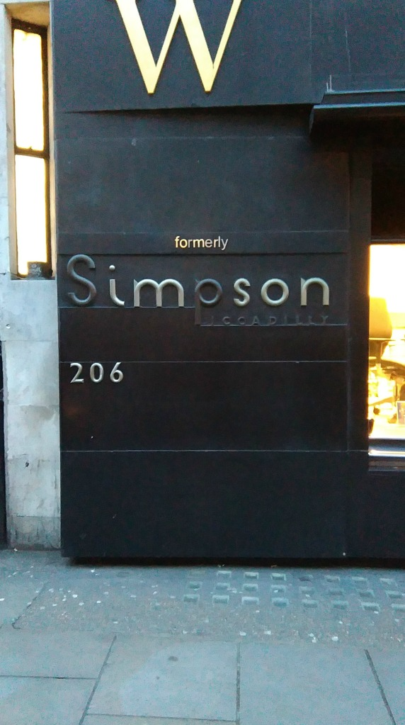 Simpsons exterior signage