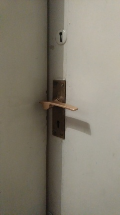 Marine Court door handle detail brass
