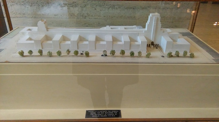 Senate House model showing full original proposal