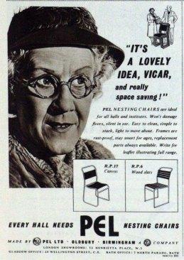 PEL chair advert