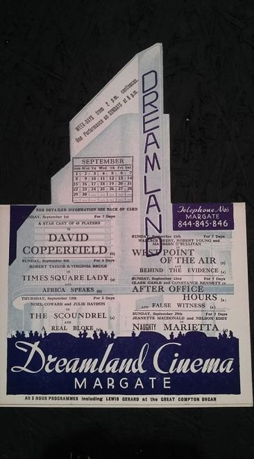 Dreamland programme 1935