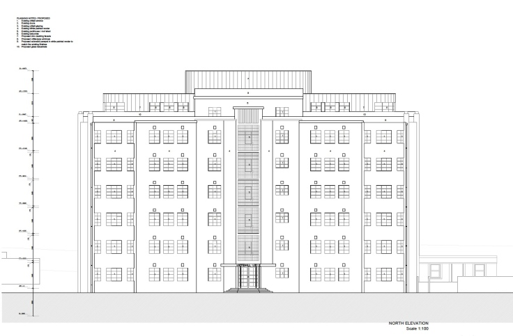 Whitehall Proposed Front Elevation